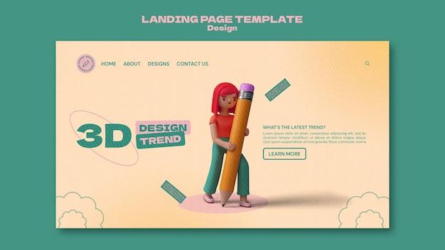 3d-design-landingpage-vorlage