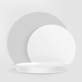 3d-display-podium psd grauer minimaler produkthintergrund