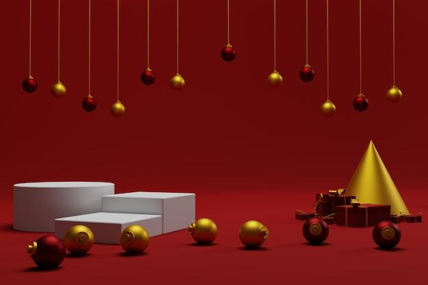 3d display podium weihnachten für produktpräsentation