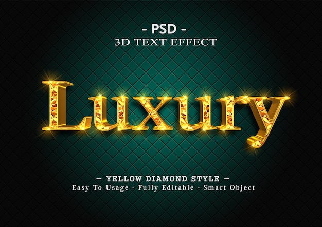 3d-effekt im textstil mit gelber raute
