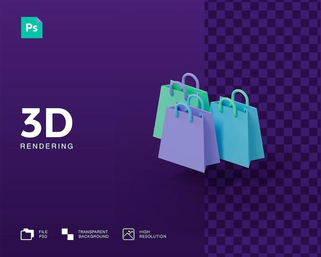 3d-einkaufstaschensymbol