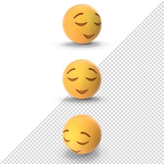 3d erleichtertes emoji