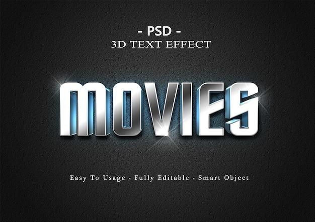 3d-filme textstil-effektvorlage