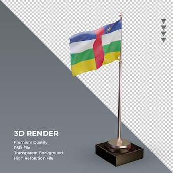 3d-flagge zentralafrikanische republik rendering linke ansicht