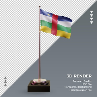 3d-flagge zentralafrikanische republik rendering vorderansicht
