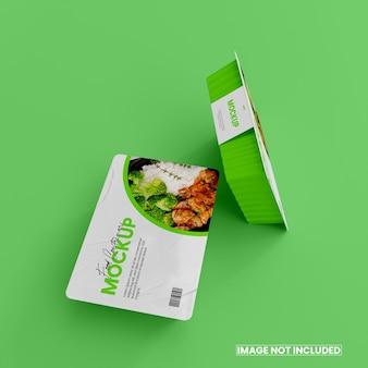 3d foil food box mockup