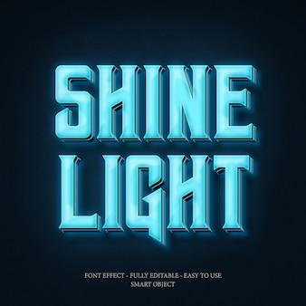 3d-font-effekt für neon-effekt mit bearbeitbaren schichten