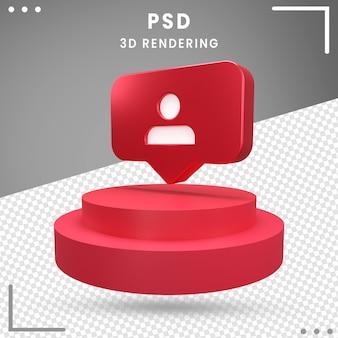 3d gedrehte logo-anhänger instagram