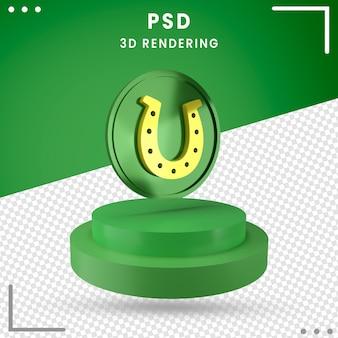 3d gedrehter grüner st. patrick's day isoliert