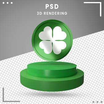 3d gedrehtes logo des st. patrick's day isoliert