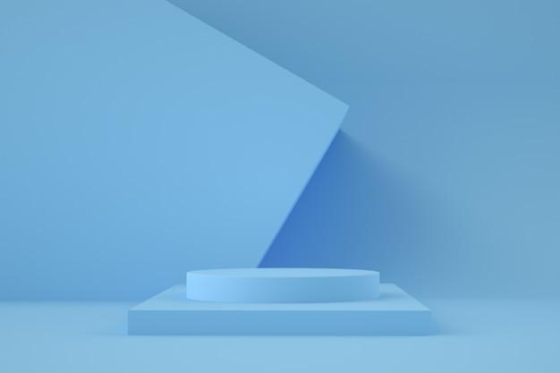 3d geometrische bühne für produktplatzierung