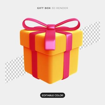 3d geschenkbox icon design isoliert