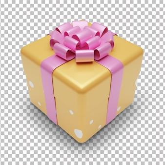 3d geschenkbox mit bogen
