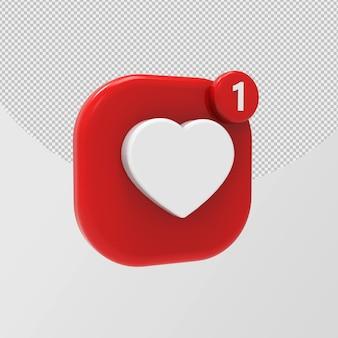 3d glänzend wie instagram-symbol isoliert