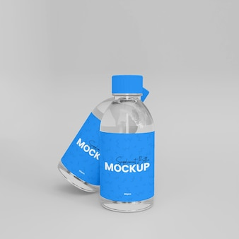 3d-glas-ergänzungs-medizinflasche mockup
