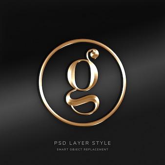 3d gold text style-effekt