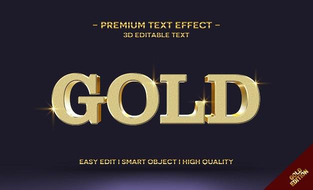 3d gold-textstil-effektvorlage