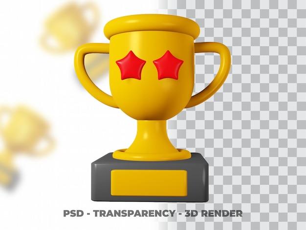 3d gold trophy mit transparenz render modeling premium psd Premium PSD