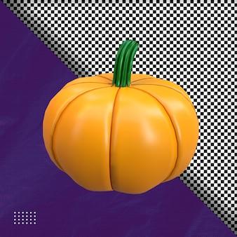 3d gruselige kürbishalloween-illustration premium psd