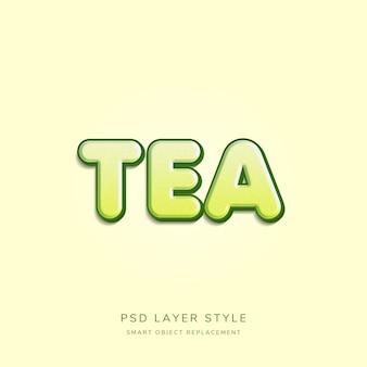 3d hellgrüner text-art-effekt
