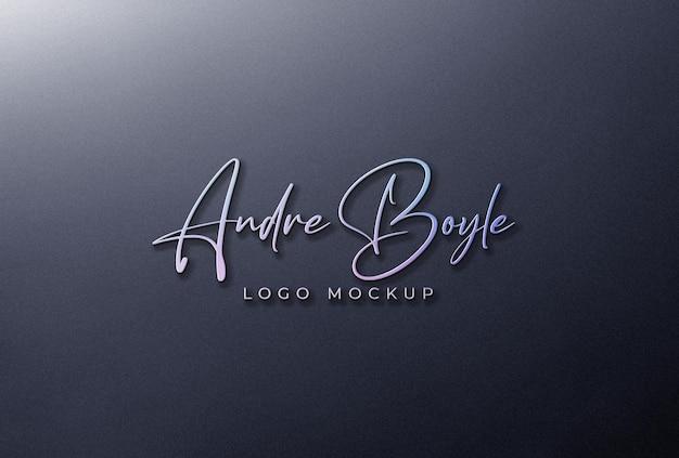3d holografisches logo mockup