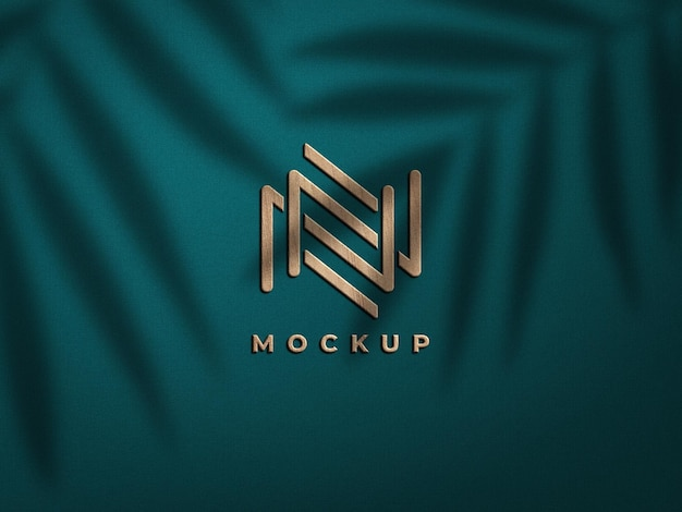 3d holz logo mockup design
