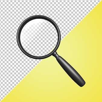3d icon black loupe lupe