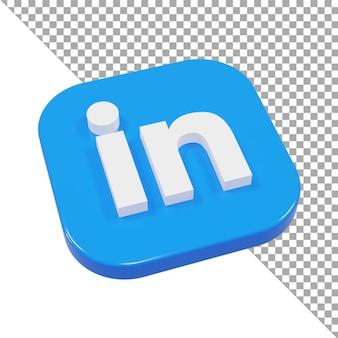 3d-icon-logo in minimalistischer isometrie verknüpft