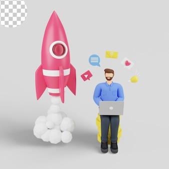 3d-illustrationsmarketing steigert den umsatz