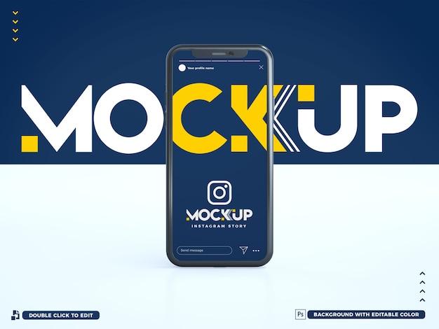 3d instagram story phone modell