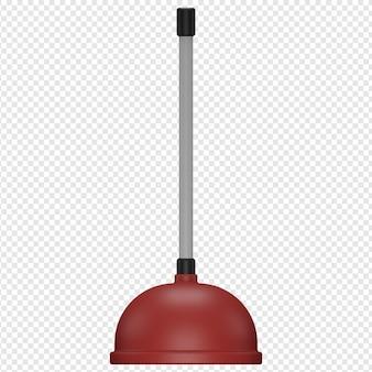 3d isolierte darstellung von toiletten-vakuum-symbol psd