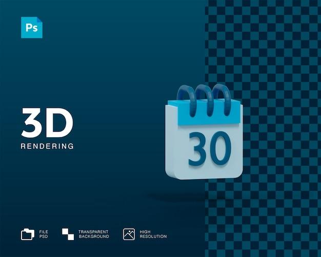 3d-kalender-rendering isoliert