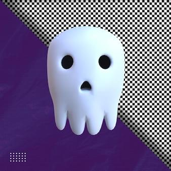 3d kopfschädel hallowen illustration premium psd