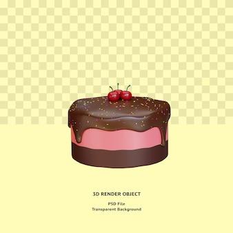 3d-kuchen-illustratin-objekt gerendert premium-psd