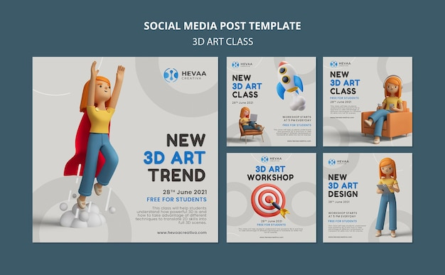 3d-kunstklasse social-media-beitrag