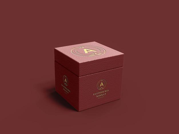 3d lederbox realistisches modell