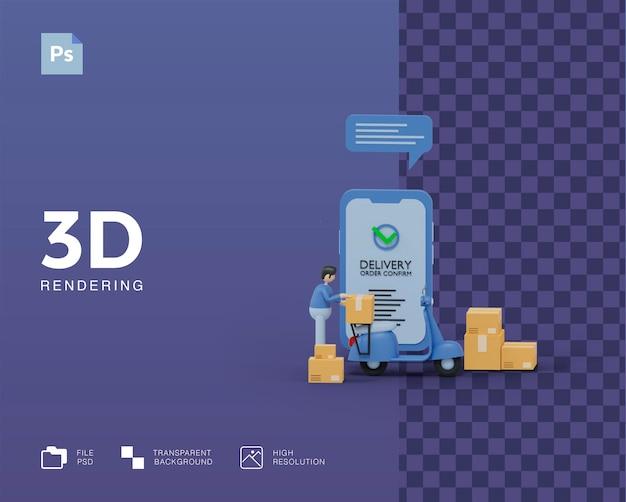 3d-lieferabbildung