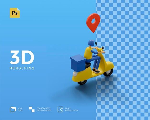3d-lieferbote mit box