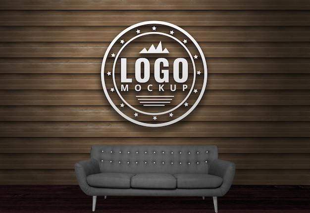 3d logo mockup geschäftslogo-modell psd