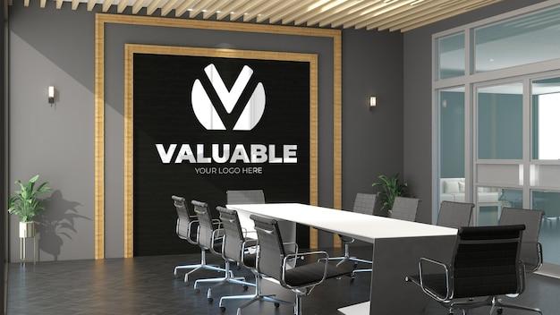 3d-logo-modell im besprechungsraum des büros office
