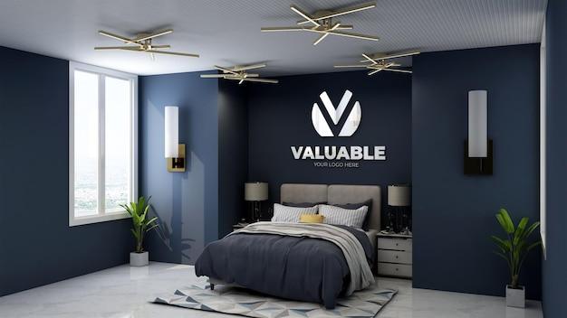 3d-logo-modell im hotelzimmer