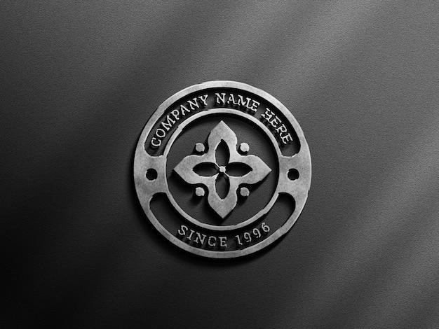 3d-logo-modell mit elegantem schatten