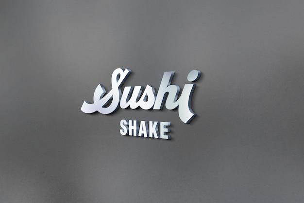 3d logo und sign mockup