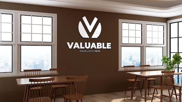 3d-logo-wandmodell im bürorestaurantraum