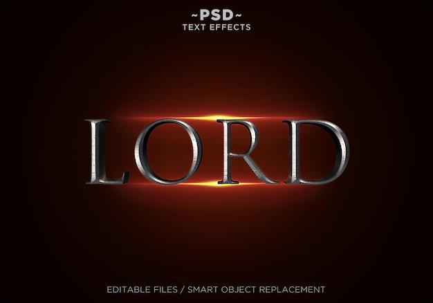 3d lord style effekte bearbeitbarer text