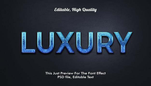 3d luxus schriftart effekt