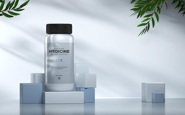 3d-medizin- oder kosmetik-flaschenmodell