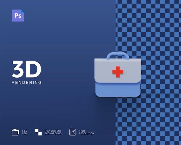 3d-medizinbeutel-rendering isoliert