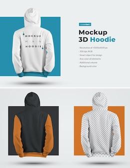 3d men mockup hoodie.