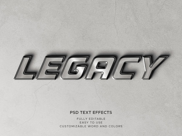 3d-metalltexteffekte mit bearbeitbaren texten
